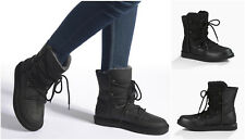 New UGG BNIB £200 Leather Fur LODGE Women's Casual Shoes Sneakers Boots Sale