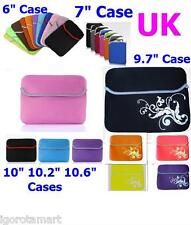 "Neoprene Soft Pouch 6"" 7"" 9.7"" 10"" Computer Netbook Tablet Case Cover Universal"