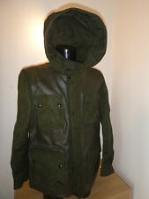 Brand New With Tags Belstaff Abbotsford Leather Panelled Hooded Jacket