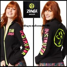 ZUMBA Team Instructor Zip Up Jacket Jumper Cardigan Bold Black ZT223491 S M L XL