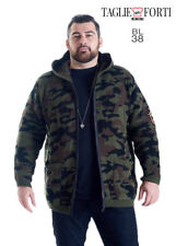 MAXFORT. SWEATER JACKET BL 38 PLUS SIZE MAN ART. CAMOUFLAGE