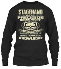 Stagehand- - Stagehand We Do Precision Guess Work Gildan Long Sleeve Tee T-Shirt