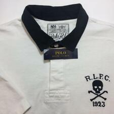 NWT POLO RALPH LAUREN Mens White Big Skull Classic Fit Rugby Shirt Sz XL $125