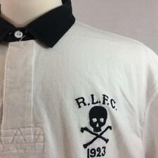 NWT POLO RALPH LAUREN Mens White Big Skull Classic Fit Rugby Shirt Sz LARGE $125