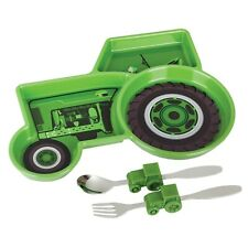 Urban Trend Farm Tractor Meal Set - Children's Kid's Plate, Spoon & Fork Set