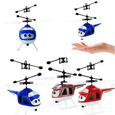 Rc Helicopter Aircraft Infrared Induction Led Light Toys Mini Drone Kids Gifts
