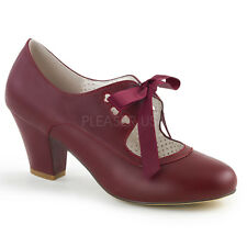 Decollete Mary Jane Tacco 6 Vernice Rosso Bordeaux Pleaser WIGGLE-32
