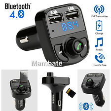 Bluetooth FM Transmitter Handsfree MP3 Player Radio Adapter Kit Dual USB Charger