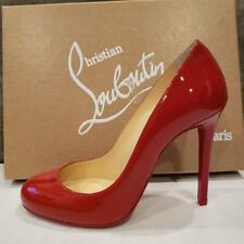 Christian Louboutin FIFILLE 100  Patent Heel Pump Shoes Flamenco Red $695