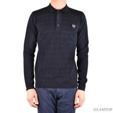 bx33709 Fred Perry polo blu uomo man's blue polo shirt