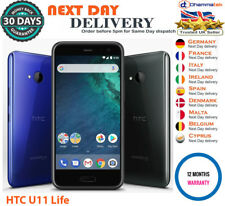 "HTC U11 Life 32GB 5.2"" Sapphire Blue Brilliant Black Unlocked Smartphone UK"