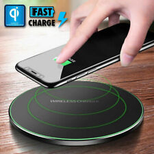 QI Wireless Fast Charger Cordless Charging Pad Mat For iPhone X XS Max 8 Plus S9