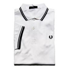 fp47 Fred Perry polo bianco uomo white men's polo shirt NEW collection 2019