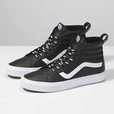 8ef3b6aa3dc784 New VANS Womens OTW Lettering Webbing Sk8-Hi Leather BLACK US W 5.5-10.5