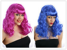 Halloween Mujer Azul Morado California Girl Katy Peluca Perry Disfraz