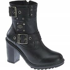 Ladies Harley Davidson Ludwell High Heeled Leather Ankle Boots