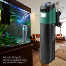 Aquarium Fish Tank Submersible Water Filter with Oxygen Pump UV Sterilizer Lamp