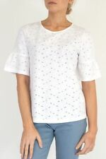 NEW White Stuff Emily Broidery Jersey White Tee Pretty RRP £35 Now £16 Save £19