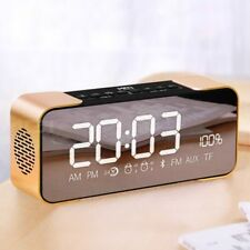 Portable Bluetooth Speaker with Led Alarm Clock High Definition Sound Column ...