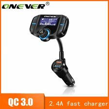 Onever FM Transmitter Bluetooth FM Modulator 2 Port Quick Charge 3.0 Charger ...