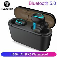 TEBAURRY Bluetooth Earphones 5.0 TWS Mini Wireless Headset Stereo Deep Bass E...