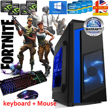 Gaming PC Quad Core i7,i5,i3 Computer SSD HDD 4 -16GB RAM GT GTX Windows 10 WiFi