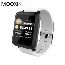 MOOXIK M28 Waterproof Sport Smart Watch for Android iOS Heart Rate Monitor Bl...