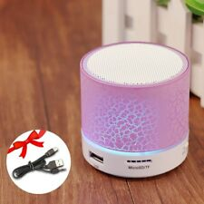 Portable Wireless Subwoofer USB Music Sound Hand-free Call LED Car