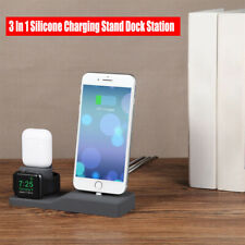 3 In 1 Silicone Charging Stand Dock Station Holder For iPhone/Apple Watch/Airpod