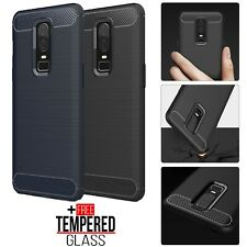 For OnePlus 6 6T Soft Silicone Carbon Fiber Case TPU Shockproof Bumper Cover