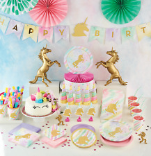 Unicorn Sparkle Pony Girl's Birthday Party Tableware Decorations Supplies