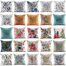 Flower Bird Pillow Cover Throw Pillow Case Sofa Cushion Cover Home Decor 18''