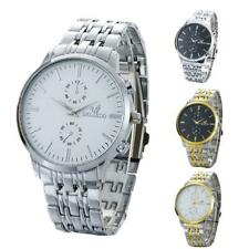 Mens Fashion Luxury Business Stainless Steel Analog Quartz Vogue Watches