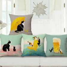 Throw Pillow Case Sofa Home Pet Bed Dog Lovely Gift Decor Cat Cushion Xmas Cover