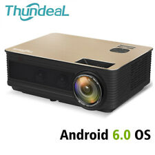ThundeaL HD Projector TD86 4000 Lumen Android 6.0 WiFi Bluetooth Projector (O...