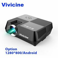 Vivicine 720P HD Projector, Optional Android WIFI Bluetooth HDMI USB PC Mini ...