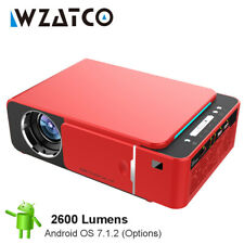 WZATCO 2600lume HD LED Projector 720p Optional Android 7.1 WIFI Portable HDMI...