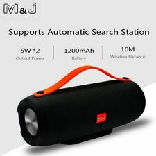 M&J Portable wireless Bluetooth Speaker Stereo big power 10W system TF FM Rad...