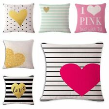 New Simple Fresh Love Sofa Bed Car Home Decor Pillow Case Cushion Cover
