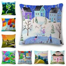 Oil painting Cotton Linen Fashion Throw Pillow Case Cushion Cover Home Decor 18""