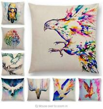 Eagle Pattern Cotton Linen Pillow Case Sofa Waist Throw Cushion Cover Home Decor