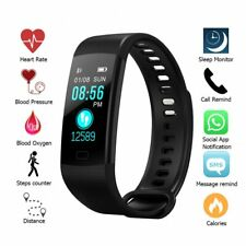 New Color Screen Waterproof Smart Watch With Heart Rate Monitor Blood/oxygen ...