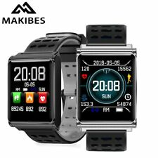 Free strap Makibes CK02 Smart Watch Men Women Blood Pressure Heart Rate Monit...