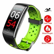 IP68 Swim Color Touch Smart Watch HR/BP/O2 Smart Wristbands Monitor Fitness B...