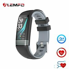 LEMFO Smart Fitness Bracelet Color Screen IP67 Waterproof Heart Rate Blood Pr...