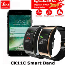 New CK11C Smart Band Colorful Screen Heart Rate Monitor Bracelet Blood Pressu...
