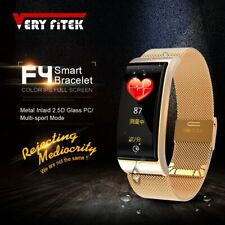 VERYFiTEK F4 Metal Smart Band Wristband Blood Pressure Heart Rate Monitor Men...