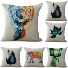 Retro Home Decor Animal Cotton Linen Pillow Case Sofa Waist Throw Cushion Cover