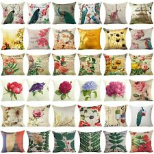 Retro Flower Throw Decorative Pillow Case Pillow Cover Sofa Car Cushion Cover
