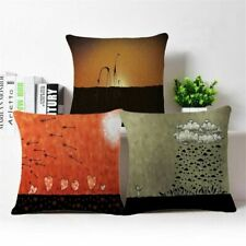 "Simple 18"" Home Decor Cotton Linen Pillow Case Sofa Waist Throw Cushion Cover"